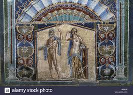 Neptun Bad Italien Kampanien Herculaneum Mosaik Im Hof Des Neptun Haus