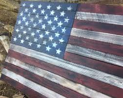 american flag wooden american flag rustic american flag