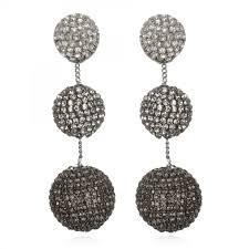 suzanna dai earrings rhinestone gumball drop earrings gunmetal ombré suzanna dai jewelry