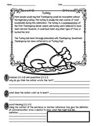 thanksgiving symbols reading comprehension passages symbols