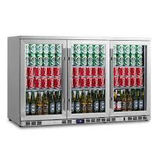 2 door full stainless under bench beverage fridge heating glass