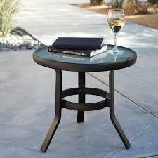 Patio Side Table Metal Metal Patio Side Table Glass Top Enjoyment Ideas Metal Patio