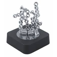 Magnetic Desk Accessories Magnetic Sculpture Block Nuts And Bolts Metal Paperweights