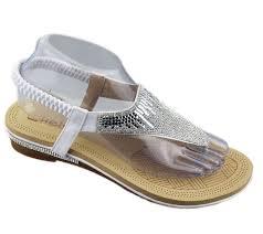 womens flat diamante sandals new women summer retro jelly