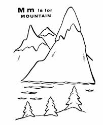 mountain free alphabet coloring pages alphabet coloring pages of