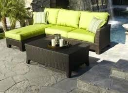 l shaped patio furniture black wicker l shaped patio couch patio