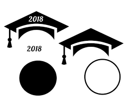 graduation cap frame graduation cap frames for monograms svg dxf eps for cricut