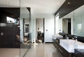 luxury master bathroom suites white bath sink big wall mirror master brown white in storage shelves varnished