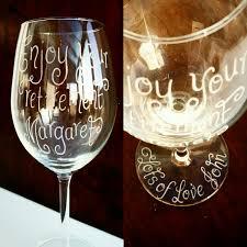 personalised wine glasses custom white wine glass retirement