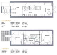 Floor Plan Two Bedroom House Floor Plan For Two Bedroom Terraced House By Proctor And Matthews