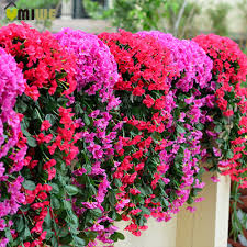 artificial flowers umiwe leafy violet artificial silk flowers vine rattan