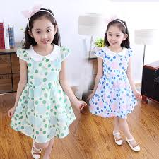 selling 2016 summer girls fashion dress kids dot princess