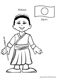 coloriage enfant japon sur hugolescargot com hugolescargot com