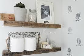 Bathroom Racks And Shelves by Diy Rustic Bathroom Shelves Seeking Lavendar Lane