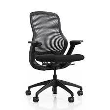 chaise de bureau knoll chaise de bureau contemporaine à roulettes en métal en