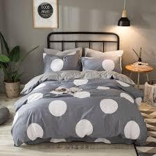 Flannel Duvet Covers Aliexpress Com Buy Gray Flannel Bedding Set Cotton Duvet Cover