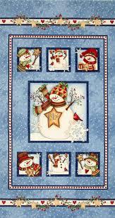 just believe snowman panel blue quilt panels pinterest
