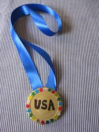 olympic gold medal craft for kids or a diy award medal teachers