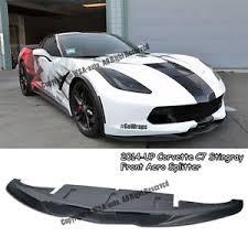 corvette front for 14 up corvette c7 stingray aero front bumper splitter lip