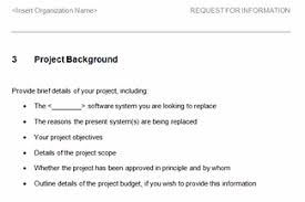 request for information rfi template