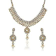 earring necklace set images Buy zeneme kundan polki jewellery set necklace set with earring jpg