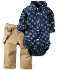 carter u0027s 2 pc shirt bodysuit u0026 pants with suspenders set baby