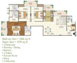 Sq Ft 1750 Sq Ft 3 Bhk 4t Apartment For Sale In Arihant Buildcon Arden