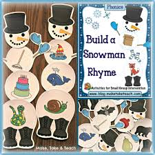 thanksgiving rhymes build a snowman activities for rhyme and beginning sounds make