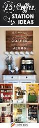 coffee bar ideas for kitchen cup printing small lamps and white