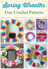 free crochet patterns for home decor spring wreaths free crochet patterns stitch and unwind
