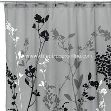 Gray Shower Curtains Fabric Gray Shower Curtain Grey Fabric Shower Curtain M L F Grey