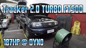 chevrolet tracker 2 0 16v turbo ft500 lite 187hp 0 4bar dyno