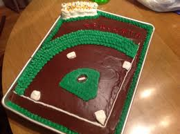 quick and easy baseball cake sports birthday party pinterest