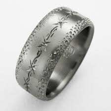 titanium wedding rings for men dixon 4 titanium ring with barbed wire titanium wedding rings