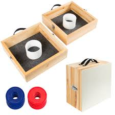 wood washer toss game set outdoor backyard party games walmart com