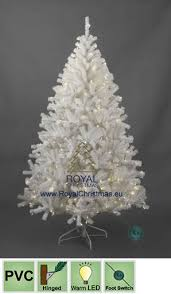 white artificial tree deluxe with led lights led