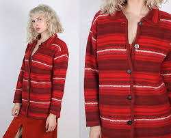 Plaid Cardigan Womens 90s Striped Sweater Vintage Button Up Cardigan Womens