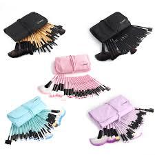 32pcs muticolor fashion pro eyebrow shadow soft makeup brush set
