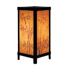bamboo motif lithophane accent lamp lt 06 destination lighting