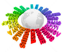 home words different languages cultures around world stock photo