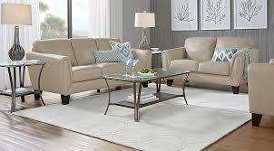 Beige Leather Living Room Set Livorno Beige Leather 3 Pc Living Room Leather Living Rooms Beige