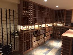 vancouver custom wine cellar with wood and metal racking custom