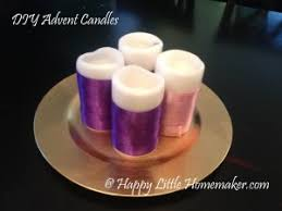 advent candles diy advent candles happy homemaker
