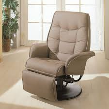 Swivel Recliner Swivel Recliner With Flared Arms In Beig