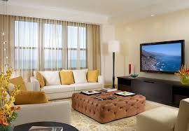 Luxury Modern Interior Family Room Contemporary With Tiered - Family room drapes