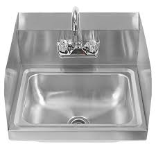 metal wall mount sink gridmann commercial nsf stainless steel sink with faucet