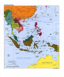 Australian Time Zone Map by Download South Asia And Southeast Asia Map Major Tourist