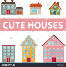 Cute House by Cute Houses Signs Icons Vector Stock Vector 75281521 Shutterstock