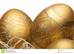 gold easter eggs golden easter eggs stock photo image 13379480