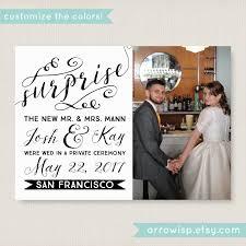 elopement announcement wedding announcement
